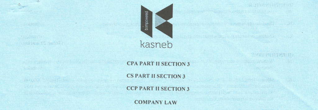 Company law notes and past papers