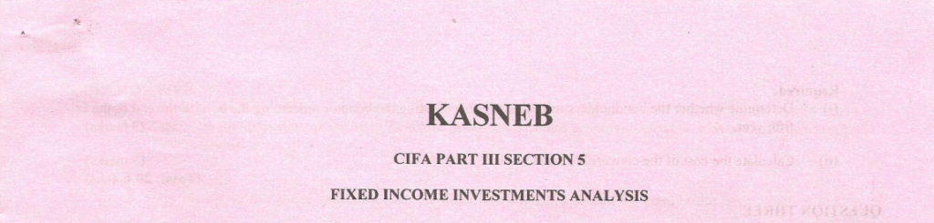 Fixed Income investment analysis notes and past papers