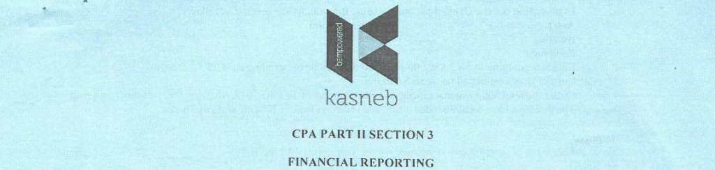 Financial Reporting notes and past papers