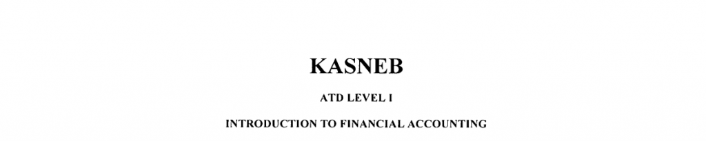 Introduction to Financial accounting notes and past papers
