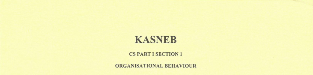 Organisation behaviour notes and past papers
