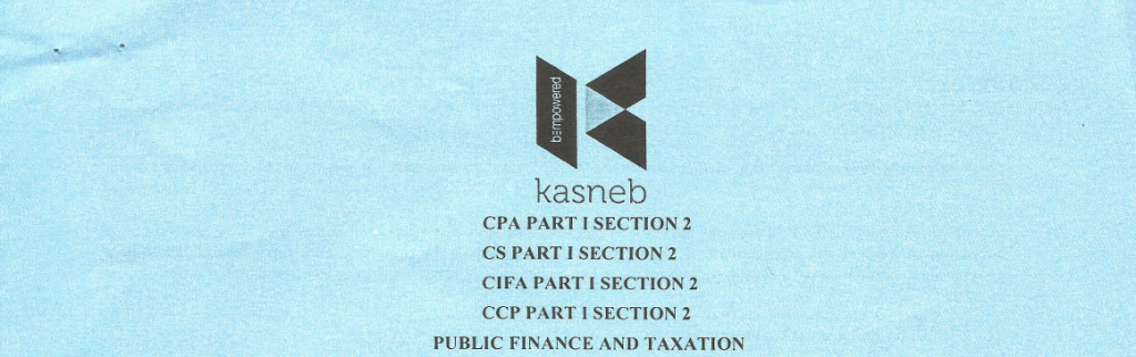 Public Finance and taxation notes and past papers
