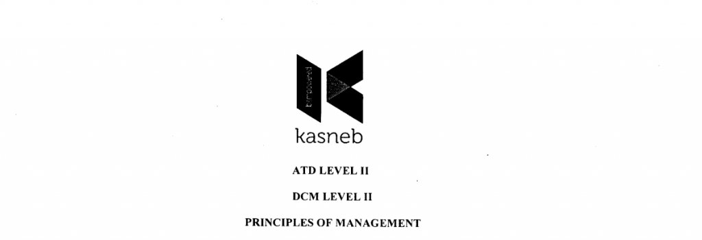 Principles of managemet notes and past papers