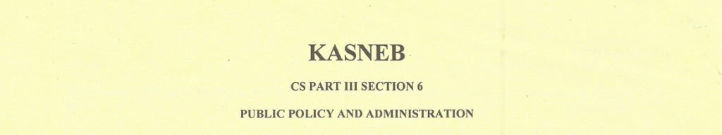 Public policy and administration notes and past papers