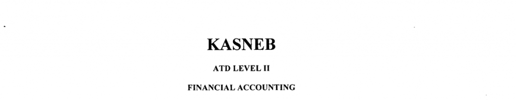 Financial Accounting ATD II notes and past papers