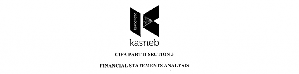 Financial statement analysis notes and past papers