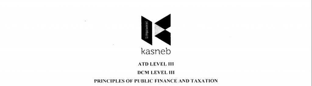 Principles of public finance and taxation notes and past papers