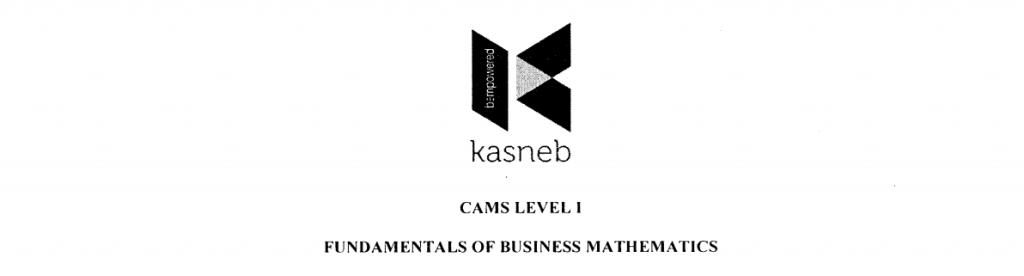 Fundamentals of Business mathematics notes and past papers