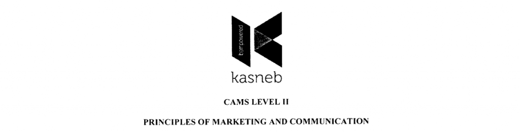 PRINCIPLES OF MARKETING AND COMMUNICATION