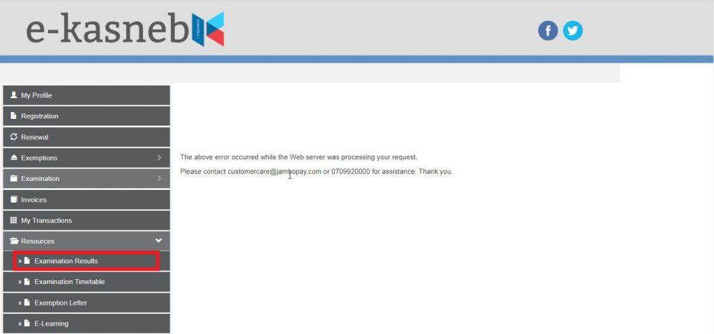 kasneb student portal account
